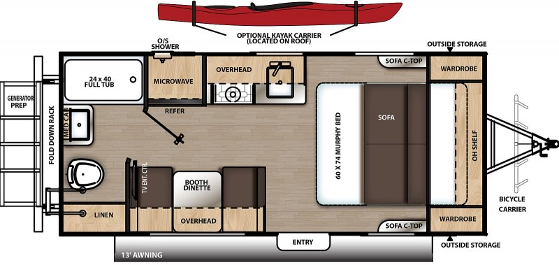2021 COACHMEN Catalina Expedition 192 RB Floorplan