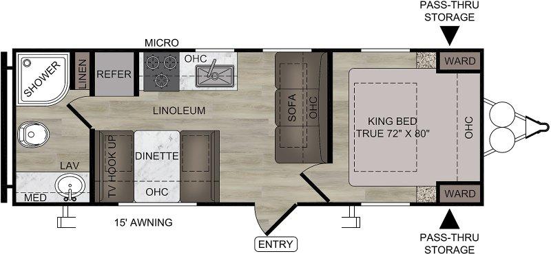 2021 COACHMEN EAST TO WEST DELLA TERRA COLLECTION 230 RB Floorplan