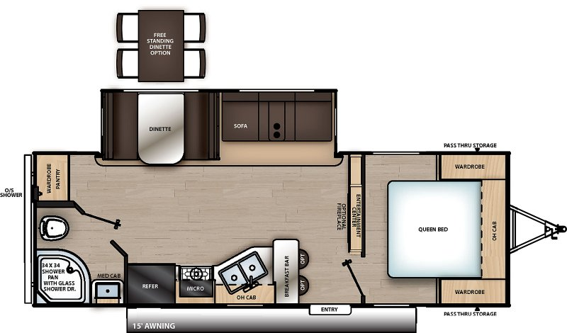 2020 COACHMEN Catalina 243 RBSLE Floorplan