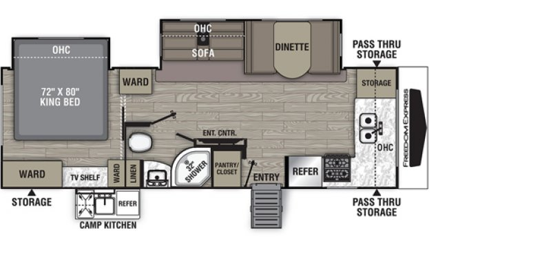 2021 COACHMEN FREEDOM EXPRESS 25 FKDS Floorplan