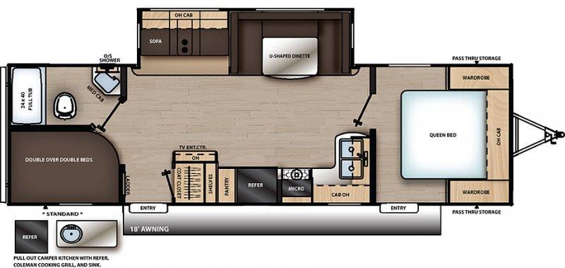 2020 COACHMEN CATALINA 273BHSCK Floorplan