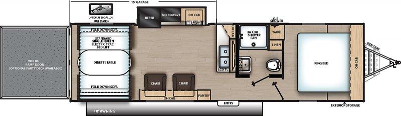 2021 COACHMEN CATALINA TRAIL BLAZER 28THS Floorplan