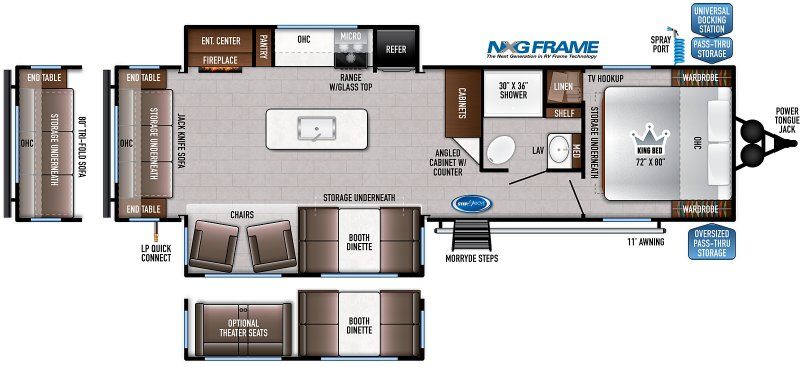 2021 FOREST RIVER EAST TO WEST DELLA TERRA COLLECTION 292 MK Floorplan