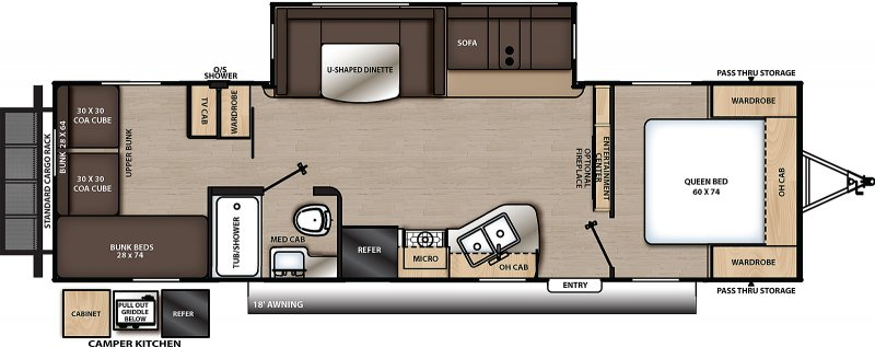2021 COACHMEN CATALINA LEGACY 293QBCK Floorplan