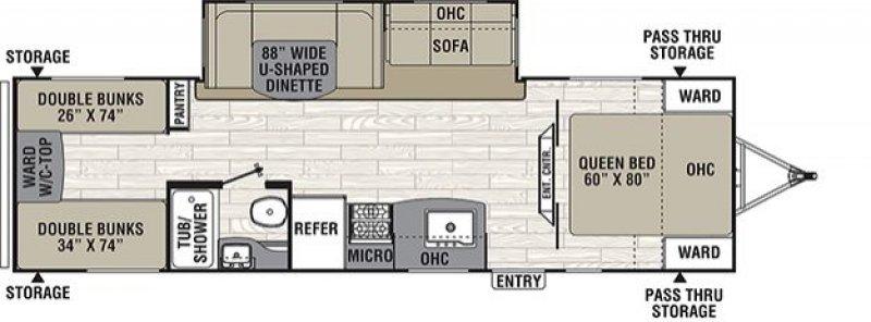 2019 COACHMEN FREEDOM EXPRESS 29SE Floorplan