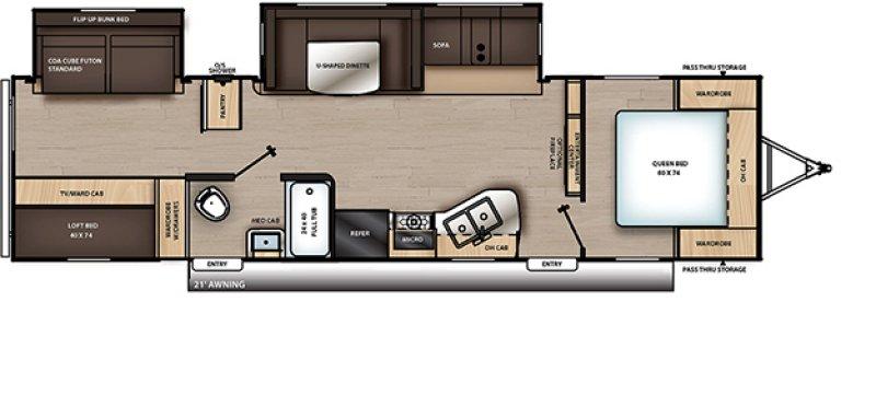 2021 COACHMEN CATALINA 323BHDSCKLE Floorplan