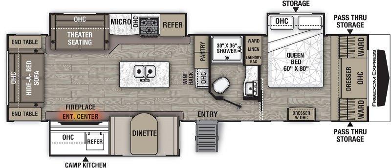 2021 COACHMEN FREEDOM EXPRESS 324 RLDSLE Floorplan