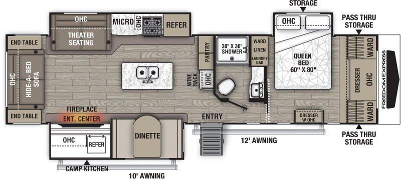 2022 COACHMEN FREEDOM EXPRESS 324RLDSLE Floorplan