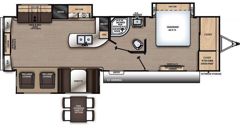 2022 COACHMEN CATALINA 333RETS Floorplan