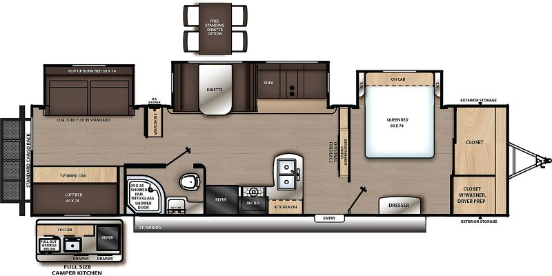 2022 FOREST RIVER CATALINA LEGACY 343 BHTS Floorplan