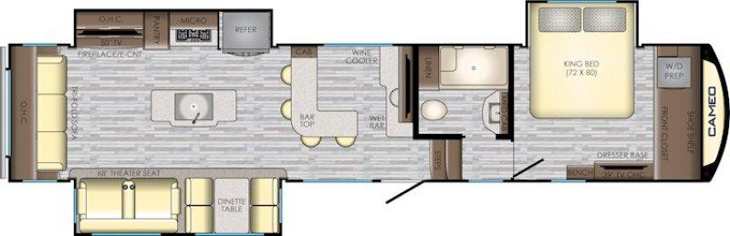 2020 CROSSROADS Cameo CE-3921BR Floorplan
