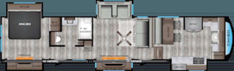 2020 CROSSROADS CAMEO CE402-1FK Floorplan