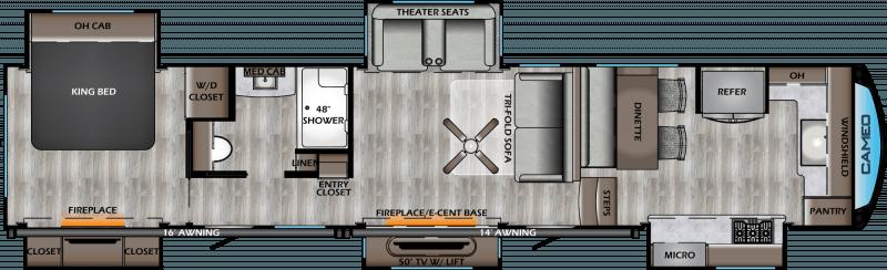 2020 CROSSROADS CAMEO 4021FK Floorplan