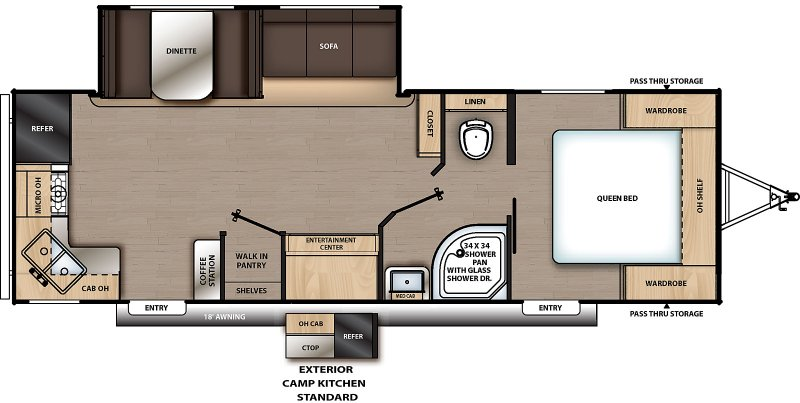2020 COACHMEN Catalina Summit 271 RKS Floorplan