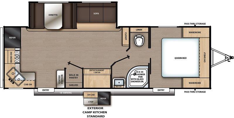 2020 COACHMEN Catalina Summit 271 RKS Floorplan