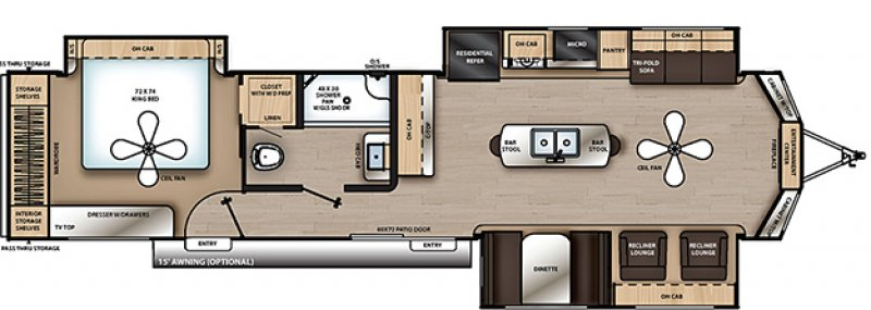 2020 COACHMEN CATALINA 39MKTS Floorplan