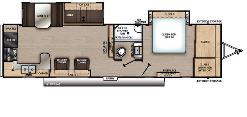 2019 COACHMEN CATALINA 303 RKDSL Floorplan