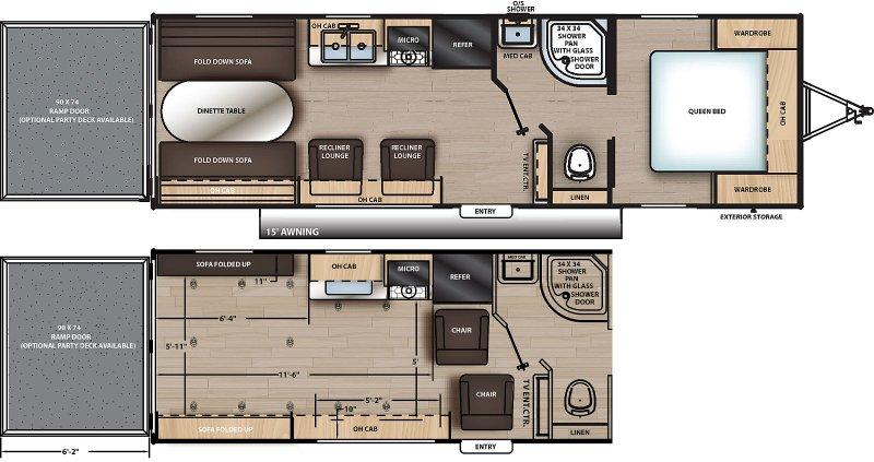 2021 COACHMEN CATALINA Trail Blazer 26 TH Floorplan