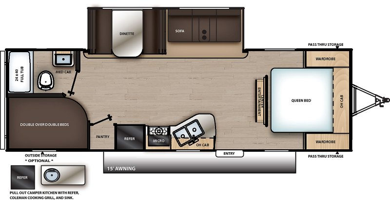 2021 COACHMEN Catalina Summit 261 BHS Floorplan