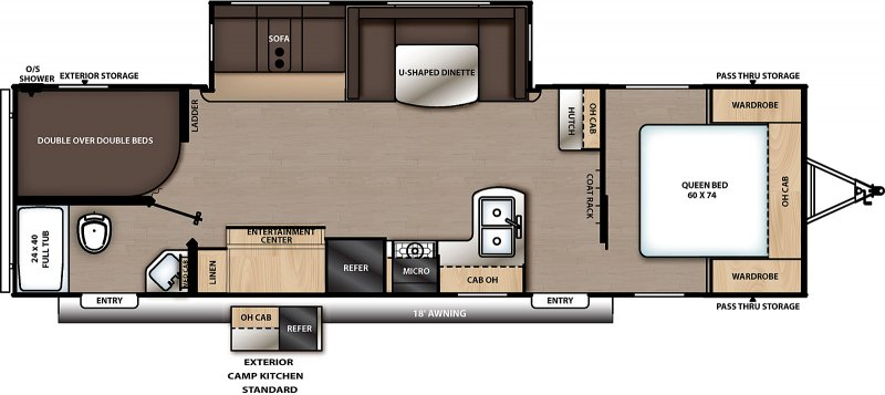 2020 COACHMEN Catalina 283 DDSCK Floorplan