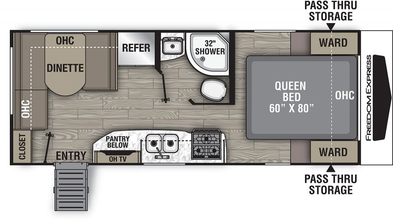 2021 COACHMEN FREEDOM EXPRESS 204 RD Floorplan