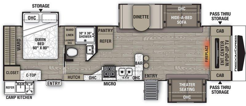 2019 COACHMEN FREEDOM EXPRESS 321FEDSLE Floorplan