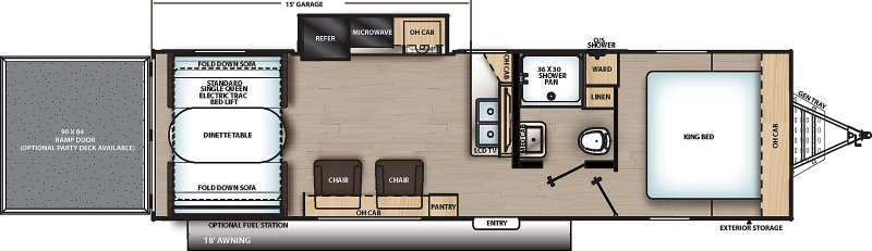 2021 COACHMEN CATALINA Trail Blazer 28 THS Floorplan