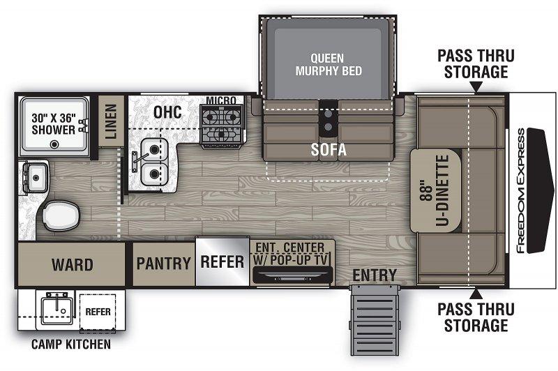 2020 COACHMEN FREEDOM EXPRESS 195 RBS Floorplan