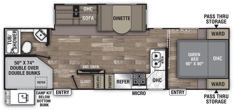 2019 COACHMEN FREEDOM EXPRESS 28.7 SE Floorplan