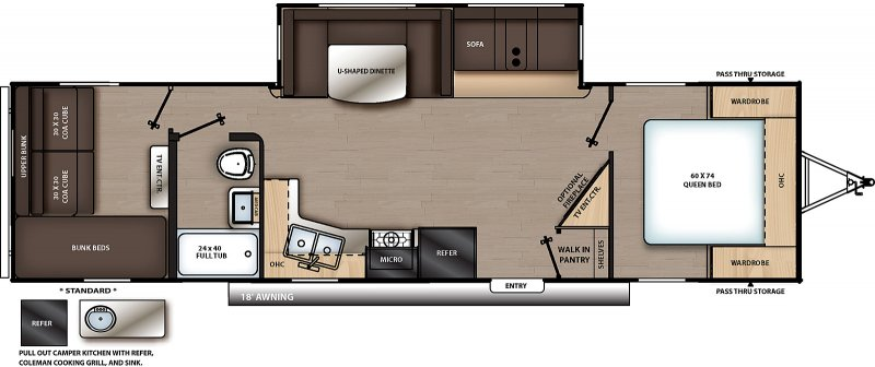 2020 COACHMEN Catalina 303 QBCK Floorplan