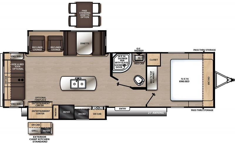 2020 COACHMEN CATALINA 293 RLDS Floorplan