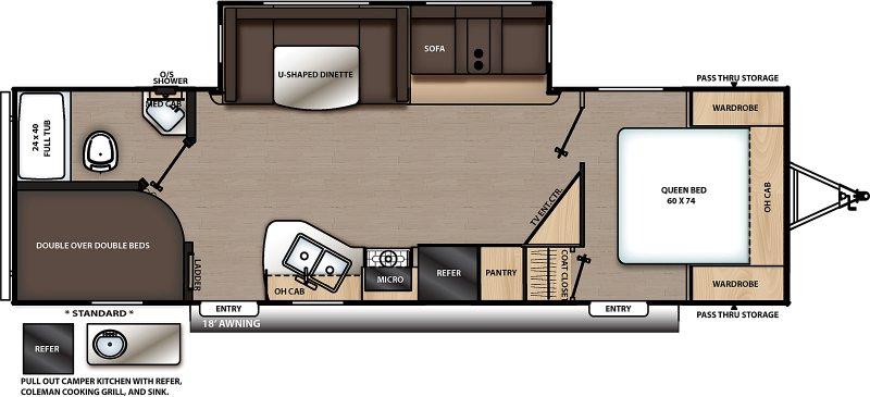 2021 COACHMEN CATALINA 263 BHSCK Floorplan