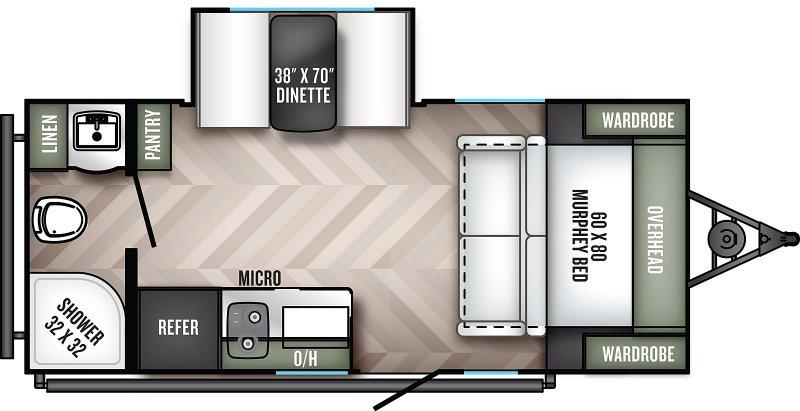 2022 PALOMINO REAL-LITE 186 Floorplan