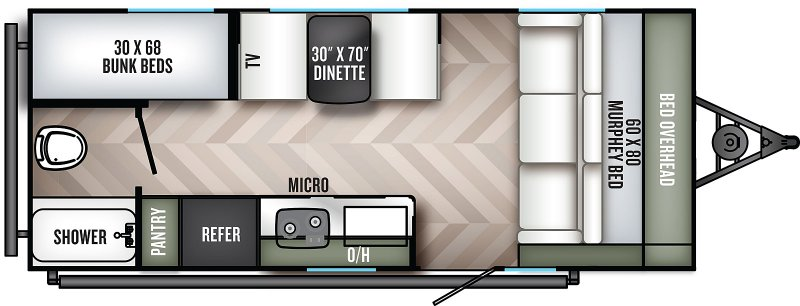2021 PALOMINO REAL-LITE 188 Floorplan