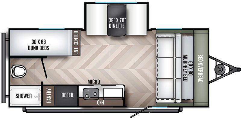 2022 PALOMINO REAL-LITE 189 Floorplan
