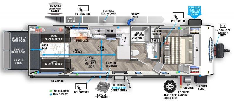 2022 SALEM SALEM FSX 270RTKX Floorplan