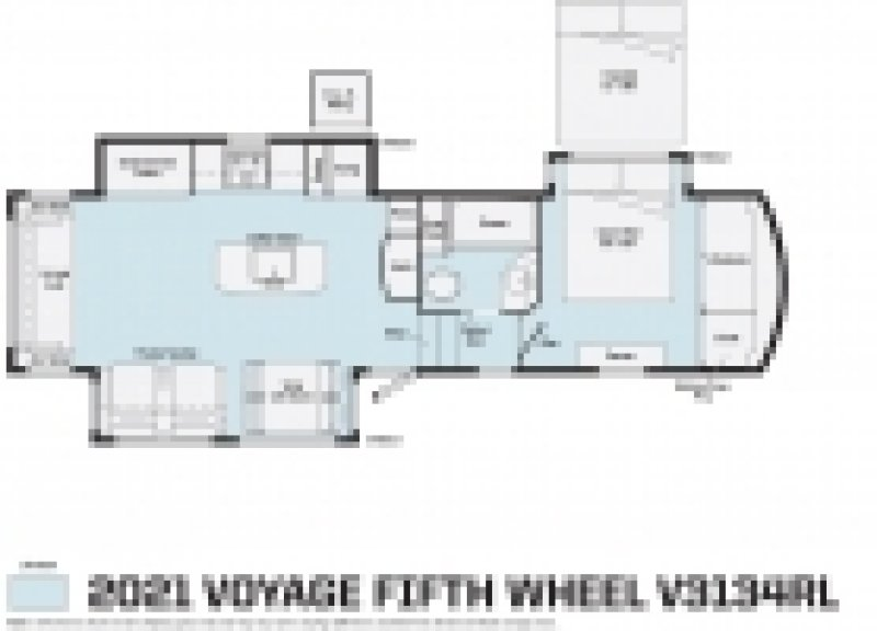 2021 WINNEBAGO Voyage 3134RL Floorplan
