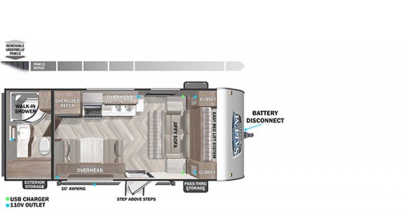 2022 SALEM BY FOREST RIVER CRUISELITE 171RBXL Floorplan