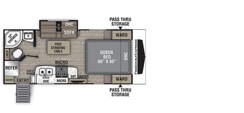 2020 COACHMEN FREEDOM EXPRESS 192RBS Floorplan