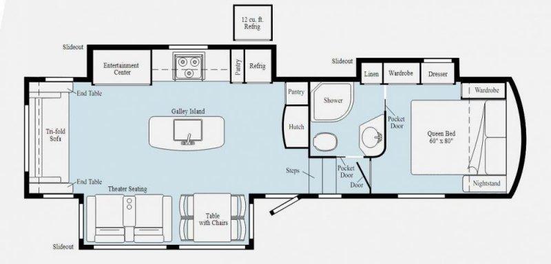 2021 WINNEBAGO VOYAGE 2932RL Floorplan