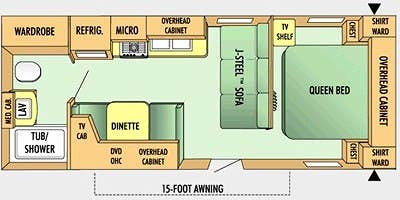 2008 JAYCO JAY FLIGHT 22FB Floorplan
