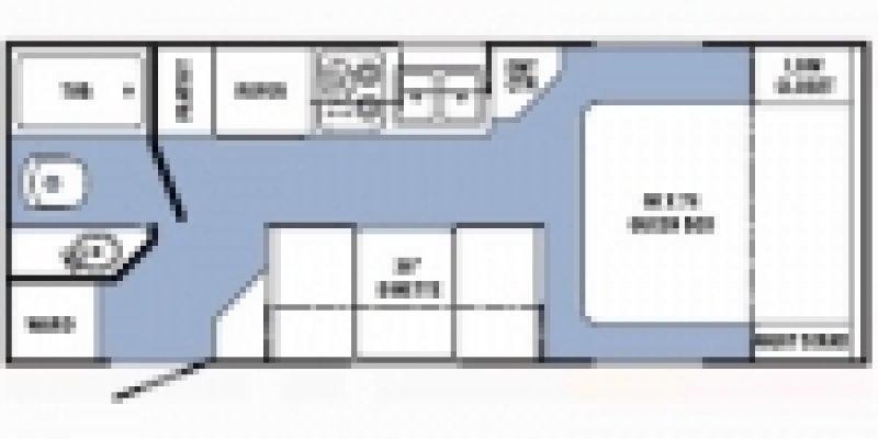 2009 R-VISION Trailite Crossover 210QB Floorplan