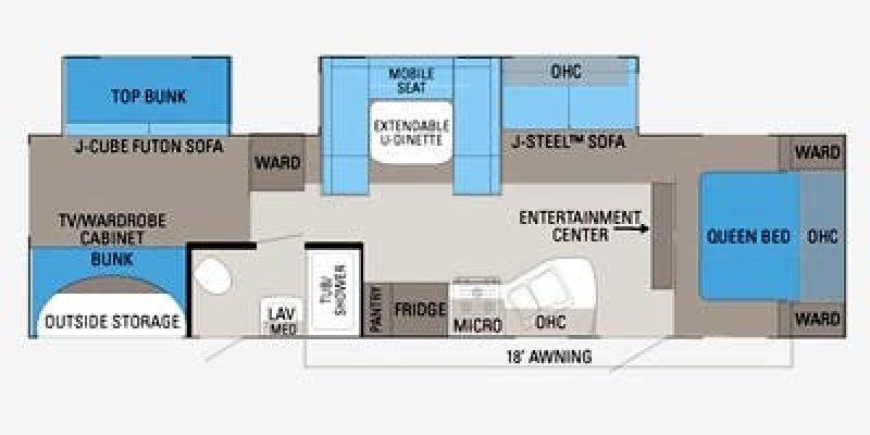 2013 JAYCO Jay Flight 32BHDS Floorplan