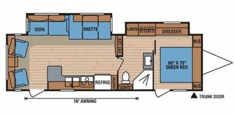2012 K-Z INC. SPREE 323CCS Floorplan