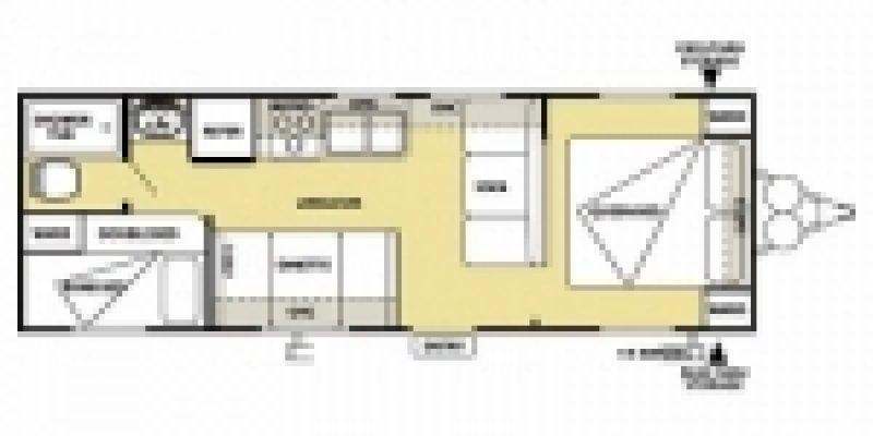 2012 FOREST RIVER Cruise Lite 261BHXL Floorplan