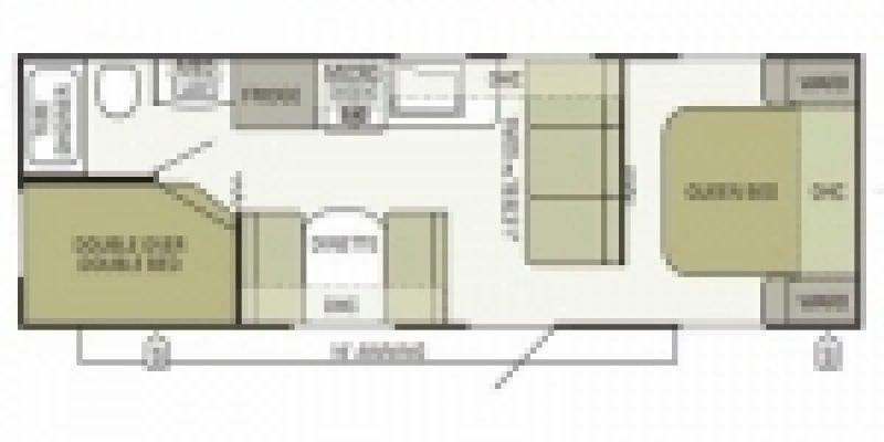 2013 AUTUMNRIDGE STARCRAFT 278BH Floorplan