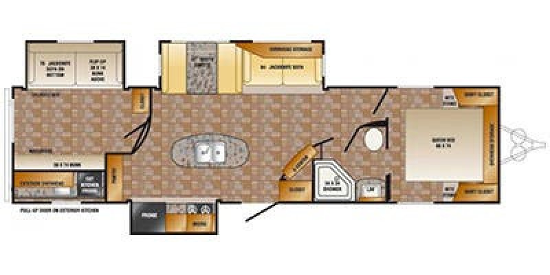 2013 CROSSROADS ZINGER ZT33BH Floorplan