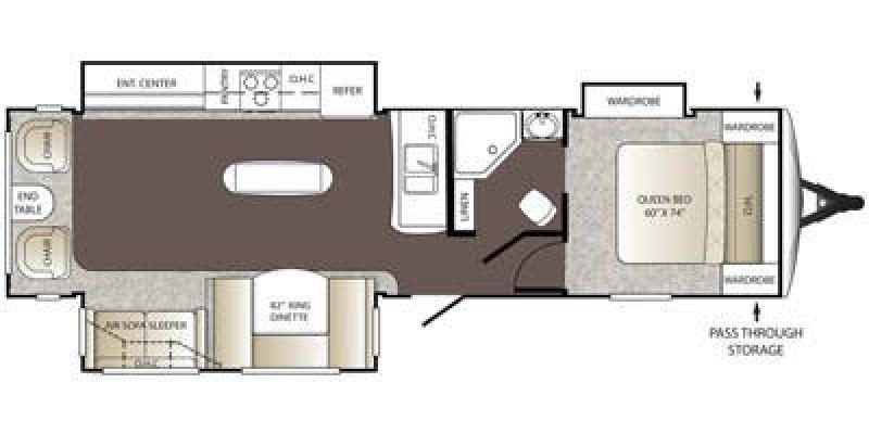 2014 KEYSTONE OUTBACK 316RL Floorplan