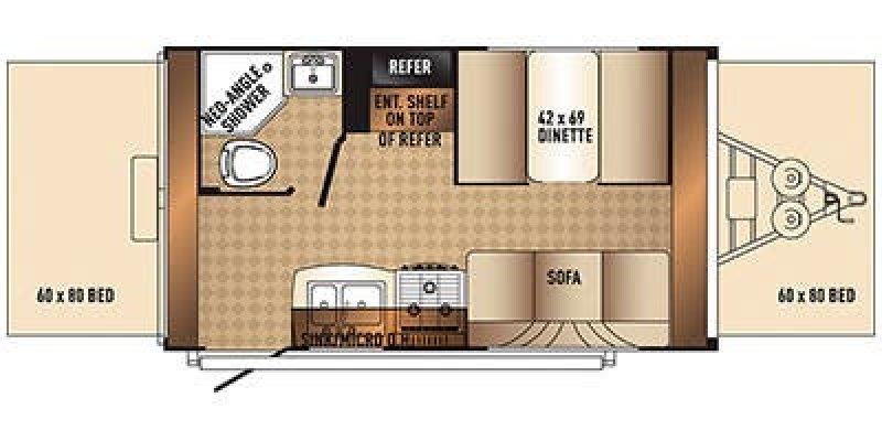 2014 PALOMINO SOLAIRE 147X Floorplan