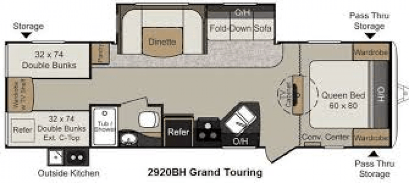 2014 PASSPORT Ultralite Grand Touring 2920BH Floorplan